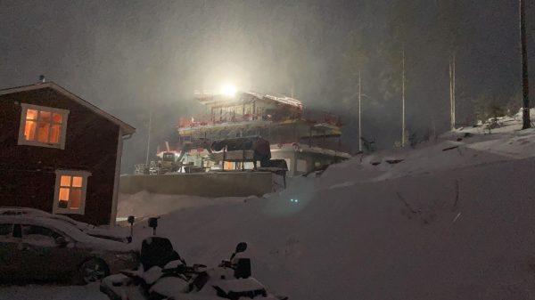 2020-10-22 Det snöar!